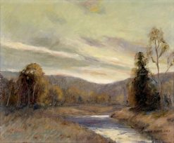 River Landscape at Sunset | Ernest Albert | Oil Painting