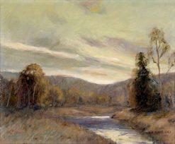 River Landscape at Sunset | Ernest Albert | Oil Painting