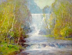 Birches and Waterfall | Ernest Albert | Oil Painting