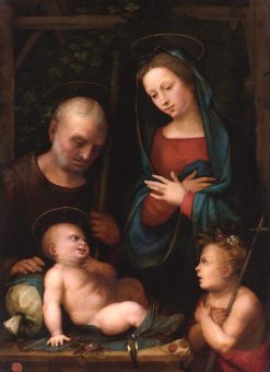 Holy Family with Saint John the Baptist | Mariotto Albertinelli | Oil Painting