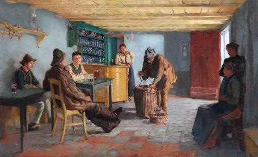 Tavern Scene with Eel Fishermen | Willem Albracht | Oil Painting