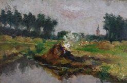 The Four Elements St.Amands: Fire   Willem Albracht   Oil Painting