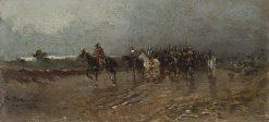 Military Scene   Mariano Barbasan Lagueruela   Oil Painting