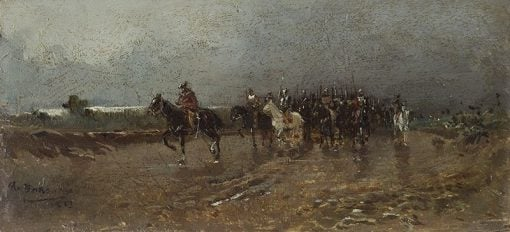 Military Scene | Mariano Barbasan Lagueruela | Oil Painting