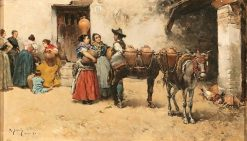 Aguadoras   Mariano Barbasan Lagueruela   Oil Painting
