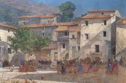 Fair in the Village | Mariano Barbasan Lagueruela | Oil Painting