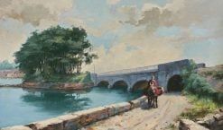 Old Bridge near Perpignan | Hiacynt Alchimowicz | Oil Painting