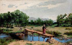 Landscape with a Bridge | Hiacynt Alchimowicz | Oil Painting
