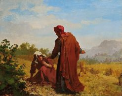 Booz and Ruth Collecting Barley Ears | Kazimierz Alchimowicz | Oil Painting
