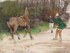 Mr. Winkle and the Gig Horse | Cecil Charles Windsor Aldin | Oil Painting