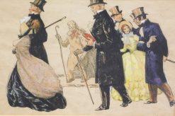 Elegant Figures   Cecil Charles Windsor Aldin   Oil Painting
