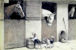 Stable Friends | Cecil Charles Windsor Aldin | Oil Painting