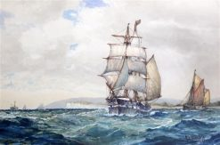 Off the Isle of Wight | Frederick James Aldridge | Oil Painting