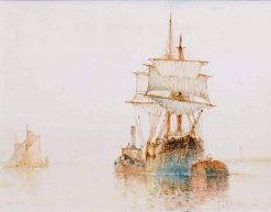 Ships Offshore | Frederick James Aldridge | Oil Painting