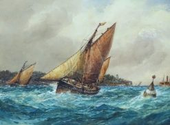 Fishing Fleet off Dartmouth | Frederick James Aldridge | Oil Painting