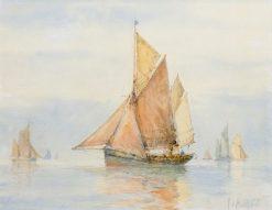 Ramsgate Trawlers | Frederick James Aldridge | Oil Painting
