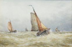 Boats in the Swell | Frederick James Aldridge | Oil Painting