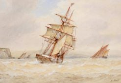 Shipping in Choppy Seas | Frederick James Aldridge | Oil Painting