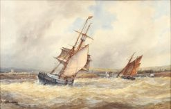 Off Shoreham Harbor | Frederick James Aldridge | Oil Painting
