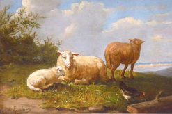 Sheep in a Meadow | Auguste Bonheur | Oil Painting