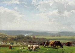 Pasturage in Auvergne | Auguste Bonheur | Oil Painting