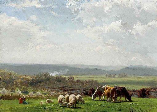 Pasturage in Auvergne   Auguste Bonheur   Oil Painting