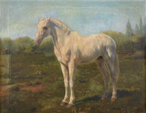 Horse in a Landscape | Rosa Bonheur | Oil Painting