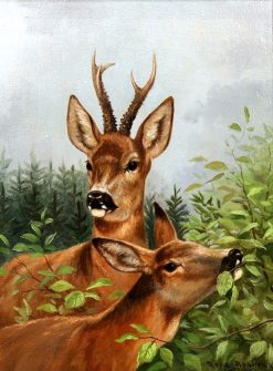 Stag and Doe | Rosa Bonheur | Oil Painting
