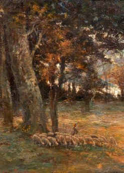 Landscape with Sheep in a Clearing | Rosa Bonheur | Oil Painting