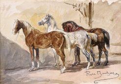 Study of Three Horses | Rosa Bonheur | Oil Painting