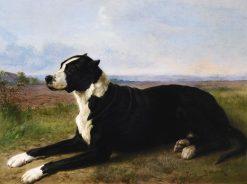 Portrait of a Mastiff-Labrador in a Landscape | Rosa Bonheur | Oil Painting