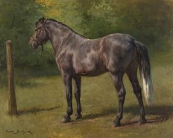 Study of a Standing Horse | Rosa Bonheur | Oil Painting