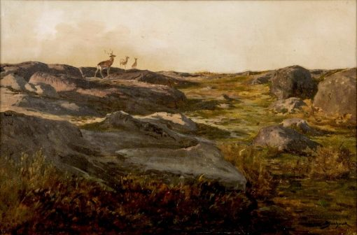 Deer on a Hillside   Rosa Bonheur   Oil Painting