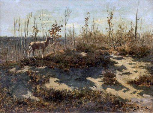 Deer amongst Trees | Rosa Bonheur | Oil Painting