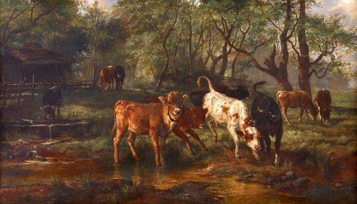 Cows Watering | Rosa Bonheur | Oil Painting