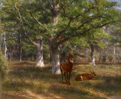 Stags in a Wood | Rosa Bonheur | Oil Painting