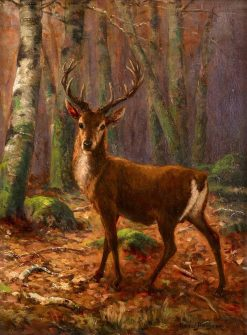Stag in the Woods | Rosa Bonheur | Oil Painting