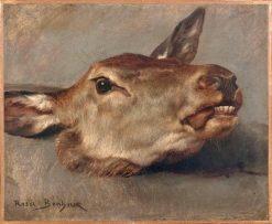Study of a Doe's Head | Rosa Bonheur | Oil Painting