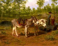 Charburner with His Two Donkeys | Rosa Bonheur | Oil Painting