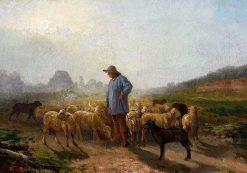 Shepherd and Flock | Rosa Bonheur | Oil Painting