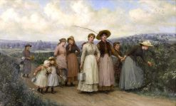 The Berry Pickers   Jennie Brownscombe   Oil Painting