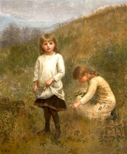 Gathering Flowers   Jennie Brownscombe   Oil Painting