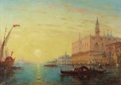 Venice by Sundown | Charles Clément Calderon | Oil Painting