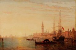 View of Venice at Sunset | Charles Clément Calderon | Oil Painting