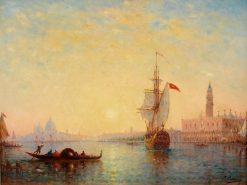 Venice   Charles Clément Calderon   Oil Painting