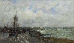 Grey North Sea | Robert Weir Allan | Oil Painting