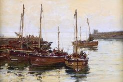 North East Harbor | Robert Weir Allan | Oil Painting