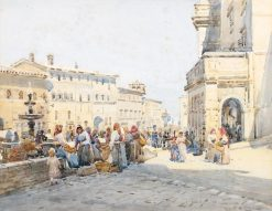 Market Scene | Robert Weir Allan | Oil Painting