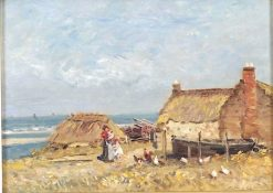 Poultry on the Shore | Robert Weir Allan | Oil Painting