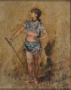 Portrait of Rosita the Acrobat | variste Carpentier | Oil Painting